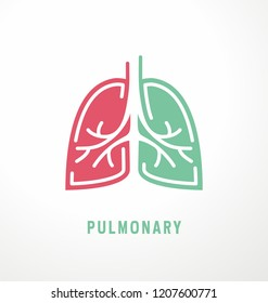Lungs symbol design. Pulmonary logo idea for medical clinic.