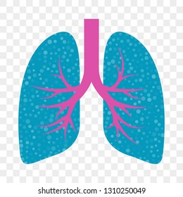 Lungs vector icon. Cold cough and acute bronchitis, lung asthma and stop cough mucolytic treatment