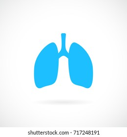 Lungs vector icon on white background