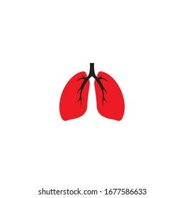 lungs vector illustration design icon logo template