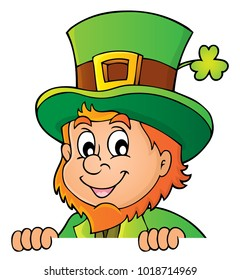 Lurking leprechaun topic image 1 - eps10 vector illustration.