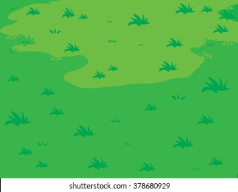 The lush green lawns Grass vector background
