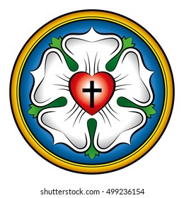 Luther rose, also called Luther seal, a symbol of Lutheranism.
