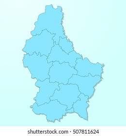 Luxembourg blue map on degraded background vector