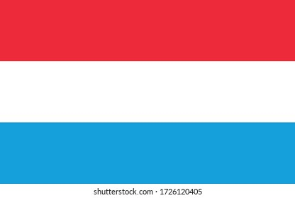 Luxembourg flag vector graphic. Rectangle Luxembourger flag illustration. Luxembourg country flag is a symbol of freedom, patriotism and independence.