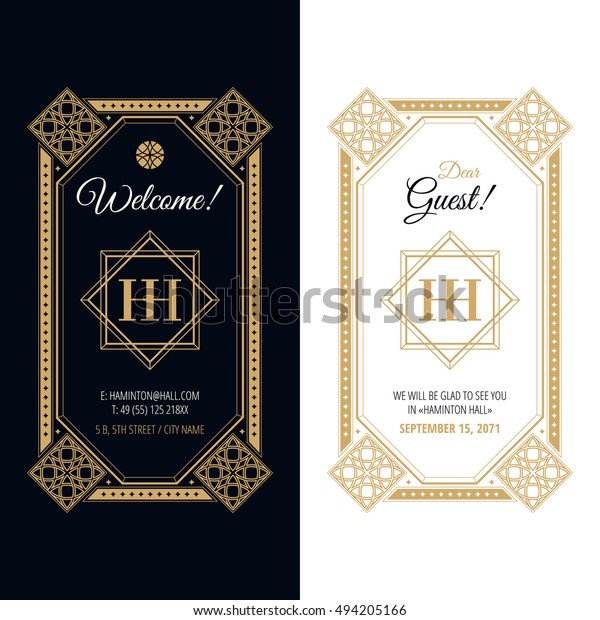 Luxurious Elegant Invitation Design Template Vector Stock Vector ...