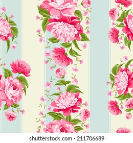 Luxurious flower wallapaper in wintage style. Vector illustration.