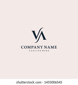Luxurious Letter VA Logo design vector illustration