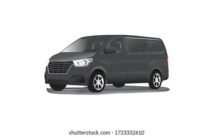 luxurious modern 3d h1 grand royale mpv multi purpose vehicle, gmc, chevy passenger van for transportaions, delivery and shipping service logo template, for europe, asia, korea, us and others
