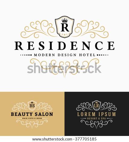 Luxurious Royal Logo Vector Resizable Design Stock Vector Royalty