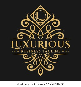 Luxurious is a Stylish Classic Letter L Logo with Beautiful Ornament