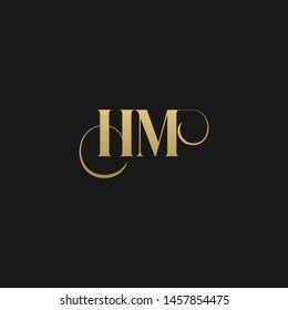 Luxurious trendy monogram HM initial based letter icon logo.