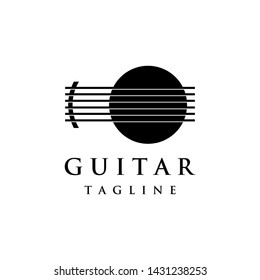 Luxury abstract logo symbol for guitar classic