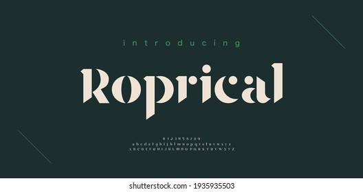 Luxury alphabet letters font and number. Classic Lettering Minimal Fashion Designs. Typography Elegant modern serif fonts decorative origami concept. vector illustration - Shutterstock ID 1935935503