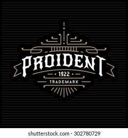 luxury antique monochrome art deco gold hipster minimal geometric vintage linear vector frame , border , label  for your logo, badge or crest for club, bar, cafe, restaurant, hotel, boutique