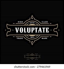 luxury art deco antique gold monochrome hipster minimal geometric vintage linear vector frame , border , label  for your logo badge or crest