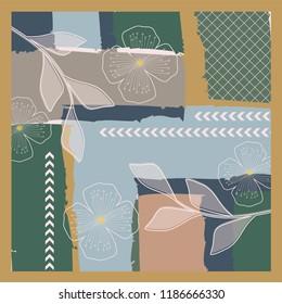 luxury art pattern for scarf design