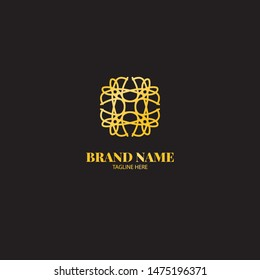 Luxury Artistic Brand Logo Vector Template