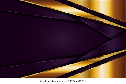 Luxury Background. Abstract Purple and Golden Lines Combination. Usable for Greeting Card, Banner, Landing Page, Presentation Background, Etc.