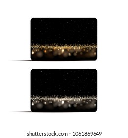 Luxury background card templates. Vector golden and silver luxury backgrounds for gift voucher, discount or credit cards.
