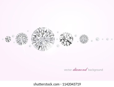 Luxury background with diamonds and perls for modern design