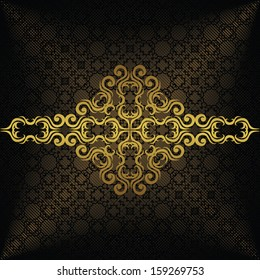 Luxury background with a gold decoration. Vintage style