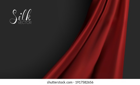 Luxury background template vector illustration. Red silk texture. Award nomination design element. Red Fashion Background.