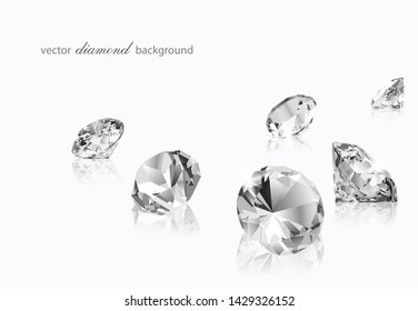 Luxury background with vector diamonds for modern design