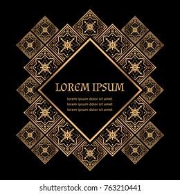 luxury background vector golden royal pattern damask frame design for beauty spa wedding