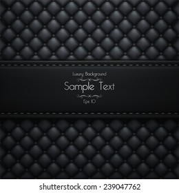 Luxury Black Background With Stripe For Text. Mock Up