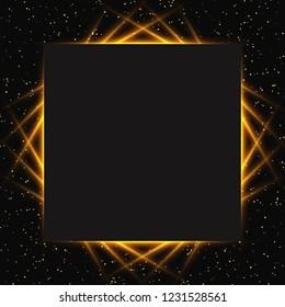 Luxury black and gold background. Design for presentation, concert, show. Vector illustration