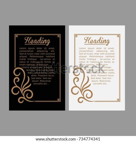 Luxury Black White Invitation Template Vintage Stock Vector Royalty