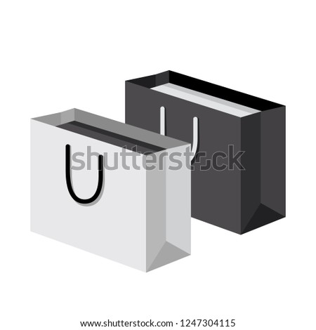 Luxury Black White Paper Shopping Gift Stock Vector Royalty Free