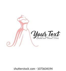 Luxury Boutique, Bridal, Dress, Floral Logo Template Illustration Vector Design Icon