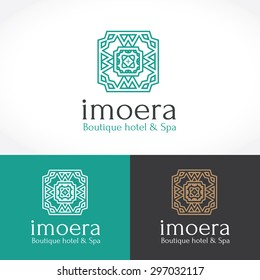 Luxury Boutique Hotel and Spa Logo Template