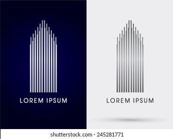 Luxury Building, Condominium,  abstract , logo, symbol, icon, graphic, vector.