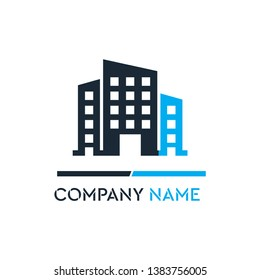 Luxury Building Construction Company Logo Vector illustration