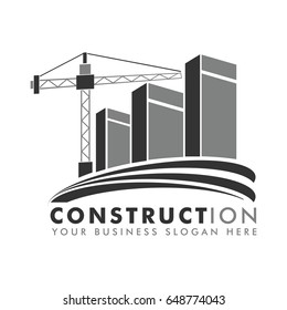 Luxury Building Construction Company Logo Vector