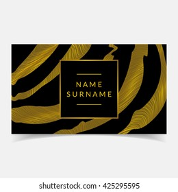 Luxury business card design. Applicable for cosmetics brand,beauty salon,garment factory etc.