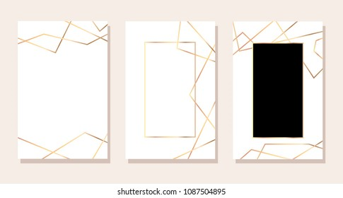 Luxury business cards with and gold. design for cover, banner, invitation, wedding, card Branding and identity Vector illustration.