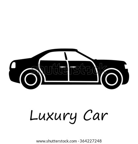 Luxury Car Automobile Side View Flat Stock Vector Royalty Free