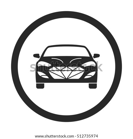 Luxury Car Front Sign Silhouette Symbol Stock Vector Royalty Free