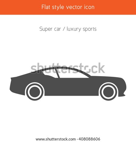 Luxury Car Icon Stock Vector Royalty Free 408088606 Shutterstock