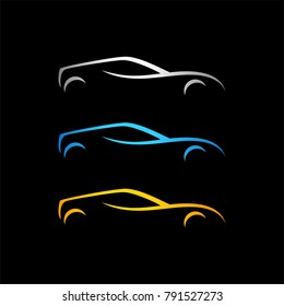 Luxury Car logo template. Premium silhouette car vector illustration