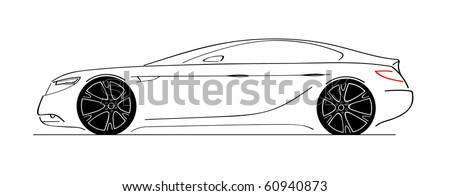 Luxury Car Side View Sketch Car Stock Vector Royalty Free 60940873