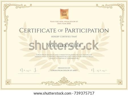 luxury certificate template elegant border frame のベクター画像素材