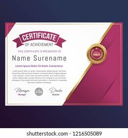 Luxury Certificate Template. Vector illustration