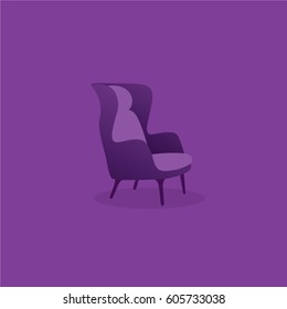 Luxury Chair vector design. Chair icon.