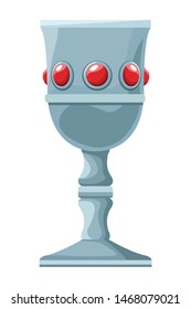 Luxury chalice with gems cartoon vector illustration graphic design