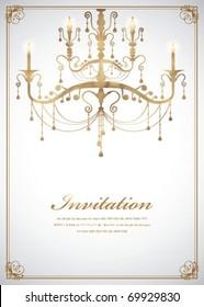 Luxury Chandelier background 08